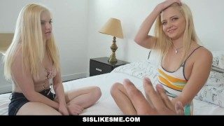 Sislovesme – Teen Sisters Fight Over Step  Bros Penis