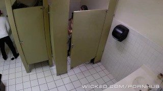 Wicked – Couple Has Sex in Outside Washroom